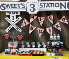 Train station decorations for birthday party