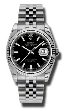 Rolex Datejust 36mm - Steel Fluted Bezel - Jublilee Bracelet (Style No: 116234 bksj) from SwissLuxury.Com