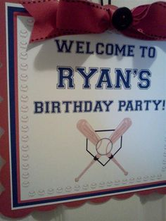Baseball Theme Happy Birthday Baby Shower by PartyCelebrations, $10.99