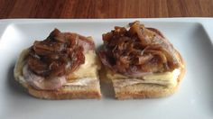 Best tapa on earth...carmelized onion with goat cheese on baguette bread