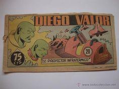 COMIC DIEGO VALOR, Nº 20, DE LA COLECCION ORIGINAL DEL AÑO 1954. NO COPIA.
