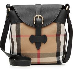 Burberry Shoes & Accessories Leather and Printed Fabric Bucket Bag (1 049 AUD) ❤ liked on Polyvore featuring bags, handbags, shoulder bags, burberry, multicolor, burberry purses, leather bucket bag, leather shoulder handbags, genuine leather purse and black handbags