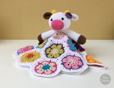 Happy Cow Lovey Pattern Security Blanket Crochet Lovey