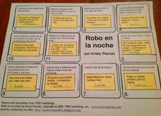 Teaching Spanish w/ Comprehensible Input: Robo en la noche - capítulo 4