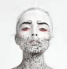 From Johannes Graf's Photography comes these amazing black and white creative makeup and beauty images