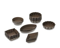 Nonstick Petit Fours Mold Set #WilliamsSonoma ~ A favorite Parisian treat since the 18th century, petits fours are as decorative as they are delicious. The choice of professional pastry chefs, these classic French pans turn out perfectly baked little cakes that are ready for a glaze, an icing or a dusting of sugar.