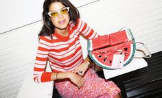 We dared Leandra Medine of Man Repeller to wear one of the girliest colors for a week straight. See how she did at jcrew.com/blog.