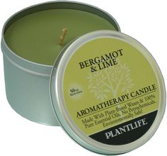 Bergamot and Lime Aromatherapy Candle- Made with 100% Pure Essential Oils - 6oz Tin -- Find out more details by clicking the image : vanilla essential oil