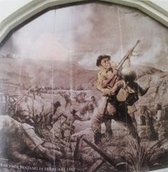 #Singapore #WWII — Painting of the Malay Regiment by Hoessein Enos at  Reflections of Bukit Chandu