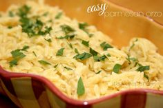 Easy Side Dishes Easy Parmesan Orzo from It's a Keeper