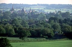 Stuart Franklin GB. Oxford. A view of Oxford from Elsfield, a small village just outside Oxford to the east. 1994.