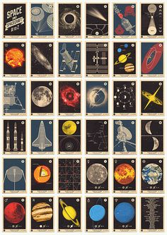 Space and Spacecraft A to Z Cards - I love stuff about space, and thru NASA, have gotten to meet many of the Apollo mission astronauts and their wives. You know, many of them still live right here in Houston.~~  Houston Foodlovers Book Club