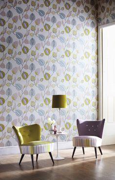 Folia Collection by Harlequin. #interiordesign #harlequin #fabric #wallpaper