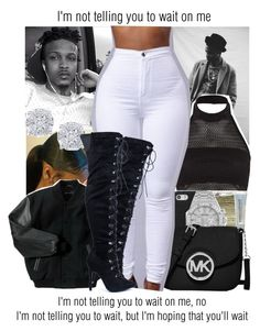 """""""Wait x August Alsina"""" by juicyums ❤ liked on Polyvore featuring GUESS, Boohoo, Effy Jewelry, SEN, Audemars Piguet, Maybelline and MICHAEL Michael Kors"""