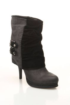 #Two Tone Slouchy Boot