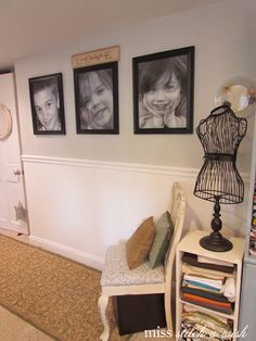 Do in living room.. Paint bottom gray white! So excited to do this