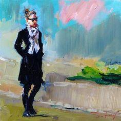 "Daily Paintworks - ""strolling"" - Original Fine Art for Sale - © Jurij Frey"