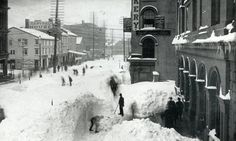 The Great Blizzard (March 11 – March 14, 1888) was one of the most severe recorded blizzards in the history of the United States. Snowfalls of 40-50 inches fell in parts of New Jersey, New York, Massachusetts and Connecticut, and sustained winds of more than 45 miles per hour produced snowdrifts in excess of 50 feet  Railroads were shut down and people were confined to their houses for up to a week.