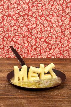Butter schmilzt