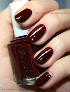 Essie nail polish (favourite shades: Wicked, Berry Hard, Fishnet Stockings, Size Matters, She's Picture Perfect, Cocktail Bling, No More Film)
