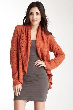 Pointelle Cardigan Sweater