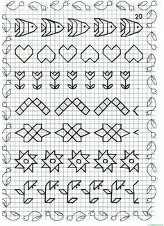 This Content For Yourself If You Like drawing ideas easy Blackwork Cross Stitch, Blackwork Embroidery, Cross Stitch Borders, Cross Stitching, Cross Stitch Patterns, Graph Paper Drawings, Graph Paper Art, Easy Drawings, Blackwork Patterns