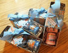 Teacher Gift Stampin' Up! Tag a Box, Marina Mist Chevron Ribbon, Venetian Romance DSP, Votive Candles