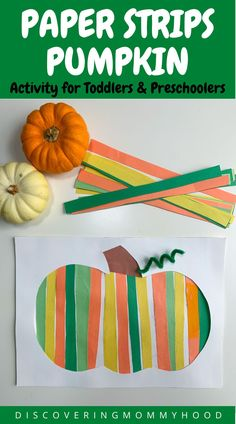 Fall Paper Crafts, Easy Fall Crafts, Fall Crafts For Kids, Toddler Crafts, Fall Arts And Crafts, Autumn Activities, Toddler Activities, Preschool Activities, Work Activities