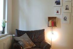 Make a nightstand-with light included!-from an old drawer.  Tutorial in German, but pictures are self-explanatory.