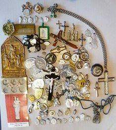 10x St Benedict charms Catholic Saint charm Vatican City medal medallion Italy