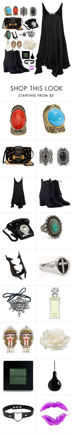 """""""Sliver"""" by anna-pensky ❤ liked on Polyvore featuring Gemma Simone, Aqua, Prada, New Look, STELLA McCARTNEY, Zimmermann, GPO, Forever 21, Child Of Wild and Calvin Klein"""