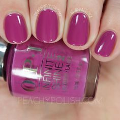 OPI Don't Provoke The Plum! | Spring 2016 Infinite Shine Collection | Peachy Polish