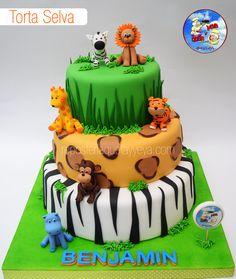 Torta Selva - Torta Safari - Jungle Cake - Safari Cake