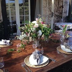 Table looking good so far 💕 Waiheke Island, Behind The Scenes, Vineyard, Table Settings, Explore, Photo And Video, Instagram, Vine Yard, Place Settings