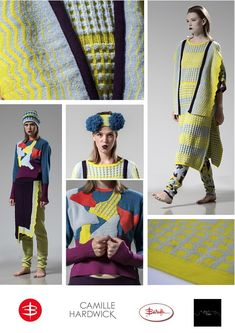 FEEL THE YARN 2014 - CAMILLE HARDWICK Moda Crochet, Crochet Art, Knitwear Fashion, Crochet Fashion, Knitting Charts, Knitting Stitches, Butterfly Project, Thesis, Jumpers