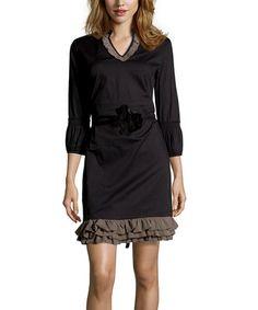 Loving this Black Anjara Dress on #zulily! #zulilyfinds