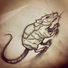 rat tattoo flash - Buscar con Google