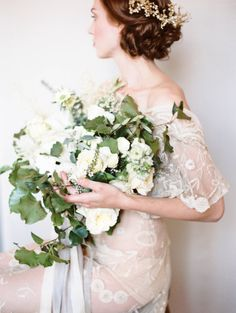 Ivory and Green Elegant Bouquet | photography by http://www.michaelandcarina.com/