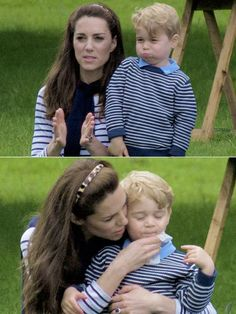 The Duchess of Cambridge and Prince George at Houghton Hall Horse Trials.