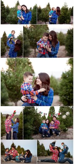 Christmas Tree Farm family photo session, great ideas for Christmas cards!