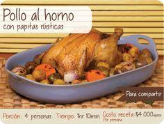 Pollo al horno  Delicioso pollo Colombiano, encuentra la receta completa en http://www.polloolympico.com/nuevo/polloalhorno.php  #Pollo #Colombia #Comida #Nutritiva #Campo #Granja #Receta