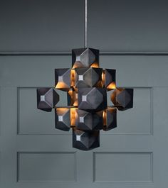 Black 3-Squared Chandelier | BLACKMAN CRUZ