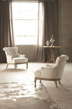 Verellen Moxie Occasional Chairs - classic style in imported Belgian linen. Made in America. Available from LOFThome.com.