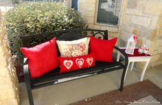 Our Home Away From Home: VALENTINES FRONT PORCH