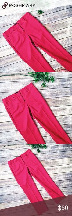"Cynthia Rowley Adorable Red Cropped Pants ❤️ ★ Excellent condition! ★ These adorable red cropped pants from Cynthia Rowley are a must have and perfect for any season!  ★ Polyurethane.  ★ NO TRADES!  ★ NO MODELING!  ★ YES REASONABLE OFFERS!  ★ Measurements: Waist laying flat: 15.5"", Inseam 27"", Rise: 8.5"". Cynthia Rowley Pants"