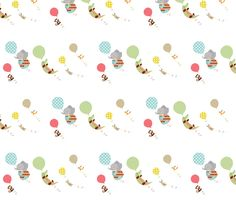 Balloon (white) fabric by veest on Spoonflower - custom fabric