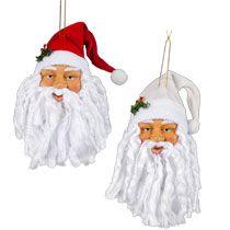 "Bulk Christmas House Plastic Santa Head Ornaments, 8½"" at DollarTree.com"