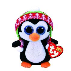 0bebca2b586 TY Beanie Boo Penelope the Penguin Medium Plush Toy To keep my head warm I  have a cool knit hat