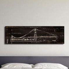 Brooklyn Bridge Giclée Framed Graphic Art