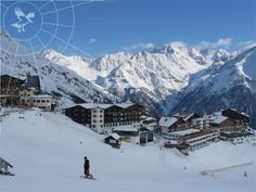 Solden, Austria, one of the best places ever for skiing!!